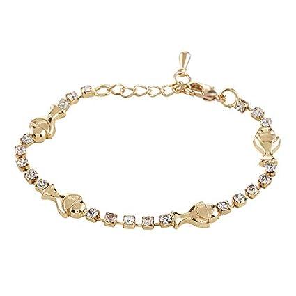 nouveau concept a79d4 e0808 Amazon.com: US Gifts Bracelet Semi Prec 1st Commun: Home ...