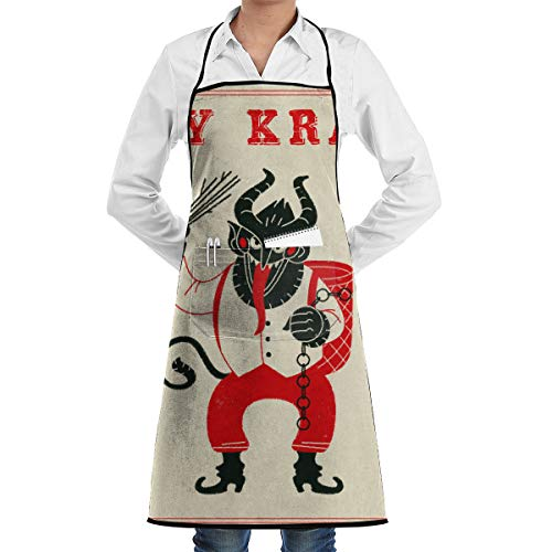 Lao Yang Mai Merry Krampus Christmas Demon BBQ Waiter Housekeeper Pet Grooming Bartender Kitchen Beautician Hairstylist Nail Salon Carpenter Shoeing Wood Painting Artist Pocket Apron -