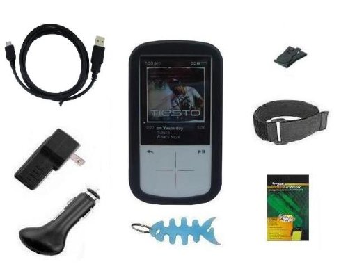 8 Items Accessory Combo Kit for Sandisk Sansa Fuze+ Plus 4GB 8GB 16GB MP3 Player