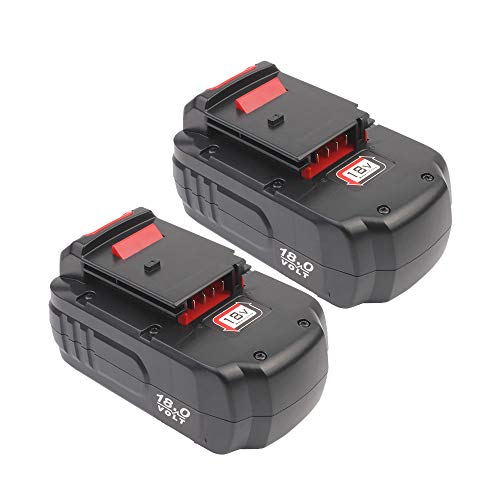 2.0Ah Replacement Ni-CD lithium Battery for Porter Cable 18V battery PC18B pc18blx PCC489N PCMVC PCXMVC Cordless Tools 2 Pack