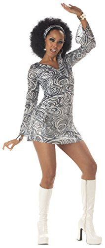 Mememall Fashion Sexy Women 70's Retro Groovy Disco Diva Halloween Costume
