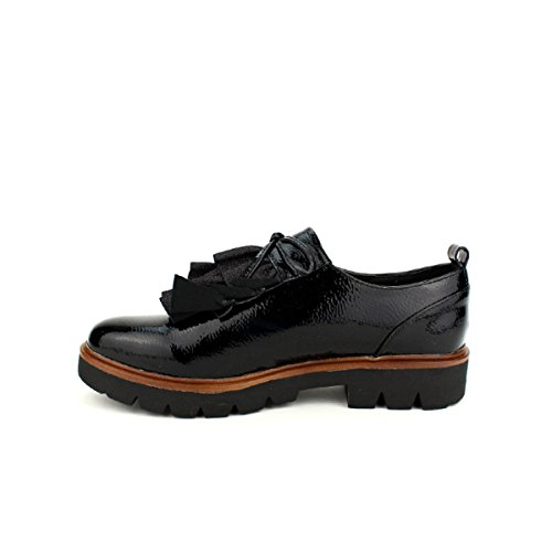 Noir Cendriyon Femme Noires Vernies Volanties Derbies Chaussures qnqP1Tx