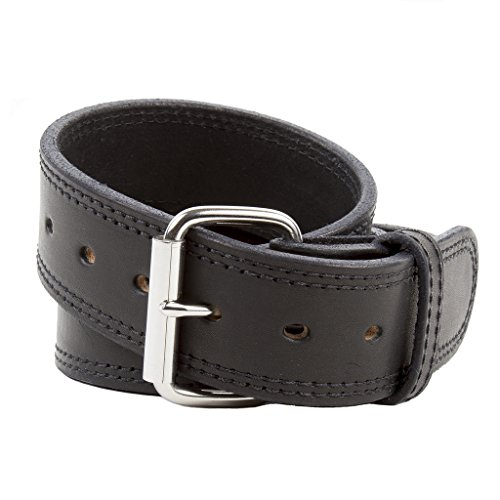 The Colossal Concealed Carry CCW Leather Gun Belt - 14 ounce - 1 3/4 inch Premium Full Grain Leather Duty Belt - Handmade in the USA! Black Size 42
