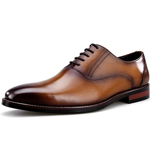 EU44 UK8 Petite Formelle Commercial Taille Couleur Usure Carrée pour Café Marron Tête Hommes Cuir Couleur en Style Chaussures 5 Classique Cuir Britannique Homme Leather FwP1R1