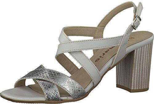 Tamaris - Sandalias de vestir para mujer LT.GREY/SILV.M