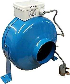 Inline - Extractor de conductos centrífugos para baño (1500 m3/h ...
