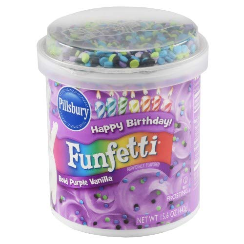 Pillsbury Funfetti Frosting Bold Purple Vanilla (Pack of 18)