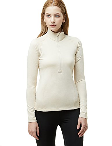 - Tesla TM-XKZ02-OTM_X-Small Women's Winterwear Sporty Slim Fit 1/2 Zip Fleece Lining Pullover XKZ02