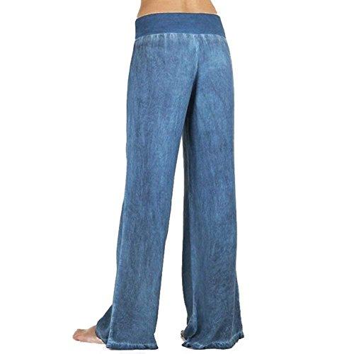 Elastica Ragazze Pantaloni Prodotto Donna Baggy Vintage Tempo Festa Libero Vita Style Fashion Jeans Eleganti Sciolto Da Bianca Colori Plus Palazzo Solidi cqYfOWCHHn