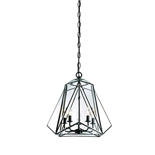 Eurofase Glacier Prism Lantern, Tiffany Glass Shade, Hand Crafted Frame, 5 B10 Light Bulb, 21 Inches High-Model 31646-017, - And Model Tiffany Co