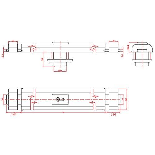Tanque ckey tanque pestillos Horizontal de pestillo Puerta Seguridad Cilindro 800