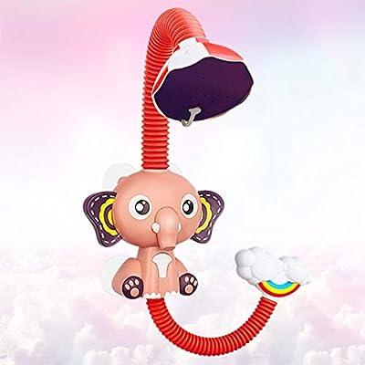 TOYANDONA Baby Bath Toys Electric Spray Bathing Tub Toys Baby Water Toys Interactive Bathtub Time Fun Toys for Toddlers Boys Girls Bathtub Swimming Pool (Elephant ): Toys & Games