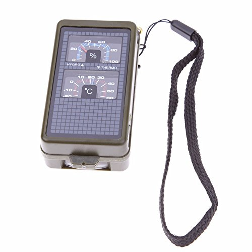 Gencorp JSC 10 in 1 Multifunction Emergency Survival - Tin Thermometer Bear