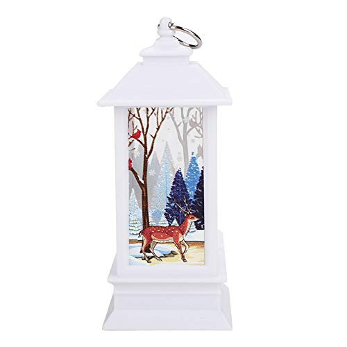 Santa Candle Wooden Street Lamp Christmas Candle Santa Claus Creative Party Xmas Candlestick Flame Light Beautiful Hanging Home Decoration