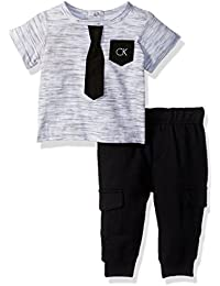 Calvin Klein Baby Boys' 2 Pieces Set-French Terry-Cargo Pants