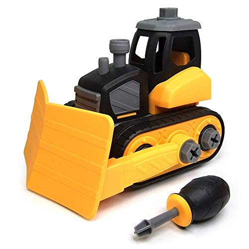 WisToyz Take Apart Toys, Building Toys, Assembly Toy Snow Plow with Constructions Set, Building Vehicle Play Set with Screwdriver, Ideal Educational Toy for Toddlers, Boys & Girls Aged 3, 4, - Building Vehicle Assembly