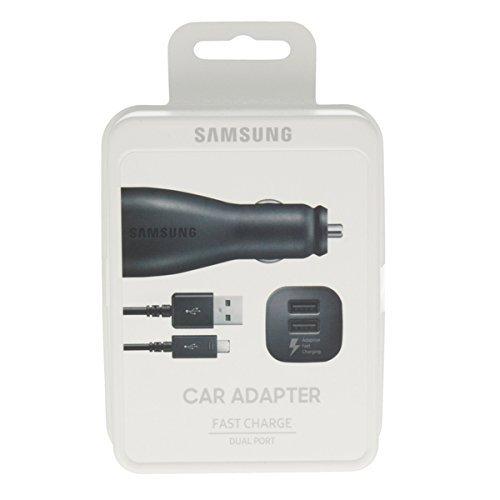 Negro genuino Samsung Adaptive rápidamente en cargador de coche de ...