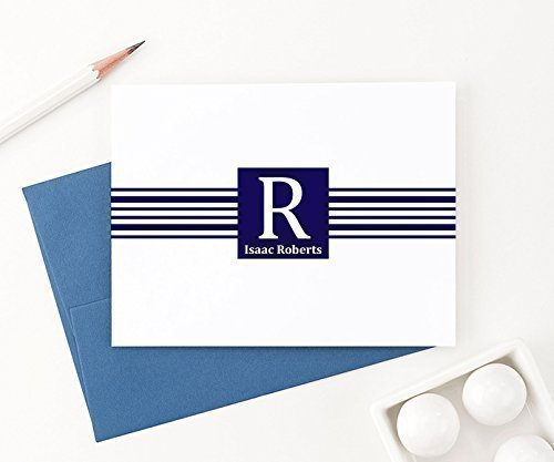 Monogrammed Stationary cards with name, Monogram Stationery Set, Monogrammed Note Cards, Monogrammed Gifts for Men, Your Choice of Colors, Set of 10 folded note cards and envelopes Gifts Folded Notes