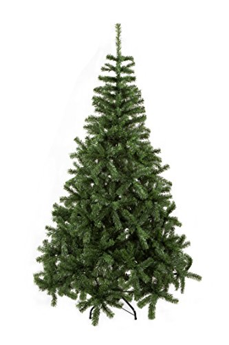 GOJOOASIS 6' Artificial Christmas Tree Premium Spruce Hinged with Metal Stand Eco-Friendly Xmas Pine Tree Green