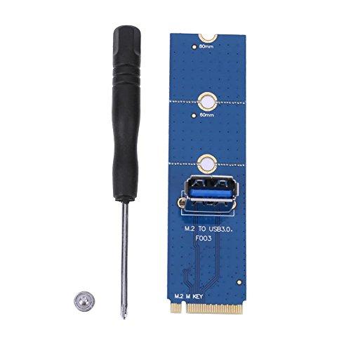UEB NGFF M.2 to PCI-E X16 Slot Transfer Card Mining Pcie Riser Card VGA Cable
