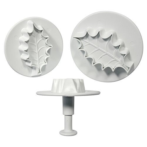 Knights Bridge Global HLL664 Cake Decorating PME Holly Leave Plunger Cutters (Set Of 3), ()