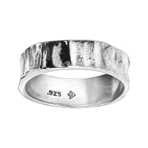 (Silpada Men's 'Resolute' Textured Band Ring in Sterling)