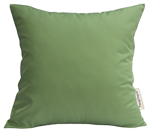 - TangDepot Durable Faux Silk Solid Pillow Shams, Euro Shams, European Throw Pillow Covers, Indoor/Outdoor Cushion Covers - (28
