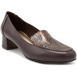 London Fog Womens Fulton Heeled Dress Shoe brown 8.5