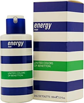 Agua de colonia benetton energy man con vaporizador .100 ml.: Amazon.es: Belleza