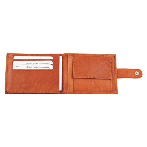 M99 Herrenlederbörse BAG STREET Collection (567C-000) chianti rust / Cognacfarben / Rehbraun, Geldbörse, Herrengeldbörse, Echt Leder, Kleinlederwaren