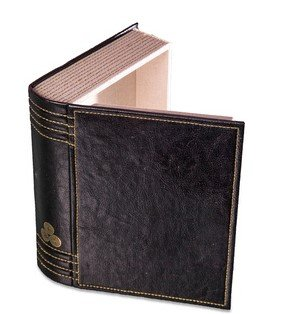 Brythonium Secret Storage Hollow Book Box in black faux leather with gold stitching.  sc 1 st  Amazon UK & Brythonium Secret Storage Hollow Book Box in black faux leather with ...