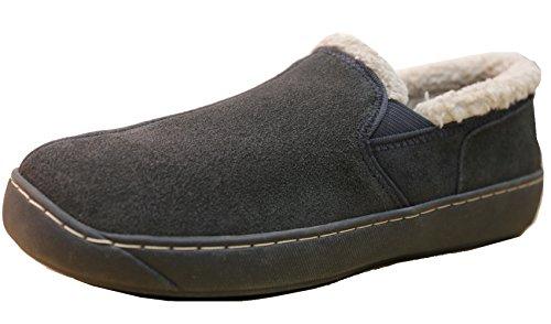 - Tamarac by Slippers International Men's Prescott Slip-On Loafer,13 M US,Charcoal Grey