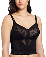 Carnival Women's Front Closure Longline Lace Soft Cup Wire Free Bra
