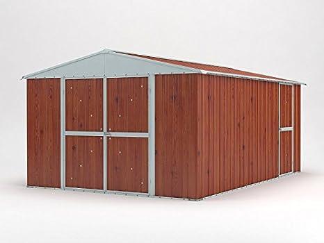 Casetta Giardino In Lamiera : Casetta box da giardino in lamiera legno per deposito attrezzi