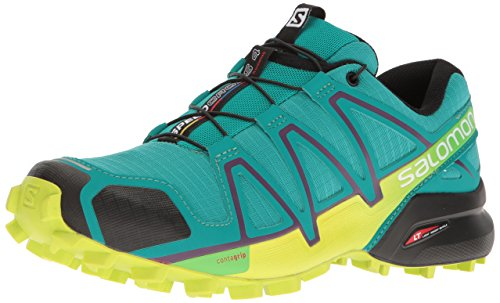 Salomon Speedcross 4 W, Chaussures de Trail Femme, Vert, 38 EU Multicolore (Deep Peacock Blue/lime Punch/grape)