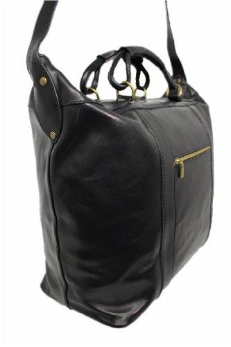 Leatherworld Damen Herren Echt-Leder Reisetasche Sporttasche Weekender geräumige Bordtasche Handgepäck-Tasche Umhängetasche Bordgepäck Leder-reisetasche aus hochwertigem Leder Vintage 06009