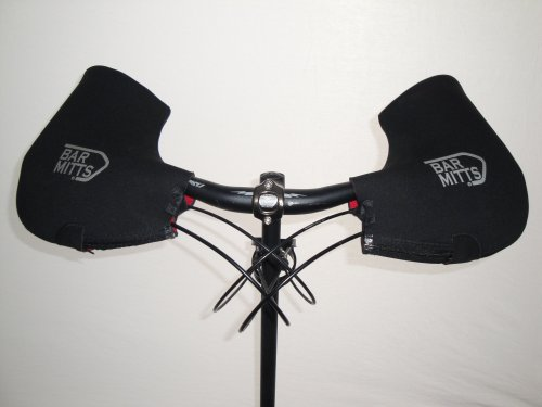 Bar Mitts Cold Weather Mountain/Commuter Bike Neoprene Handlebar Mittens, Standard (No Bar End Openings), ()