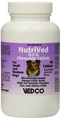 Vedco 60 Count Nutrived O.F.A. Chewable Tablets for Small and Medium Dogs