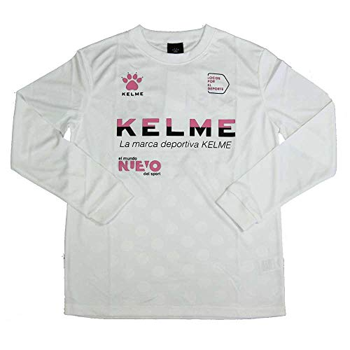 ドアやりすぎ起こるケルメ(KELME,ケレメ)ジュニア用ロングTシャツ KJ18F151 ホワイト