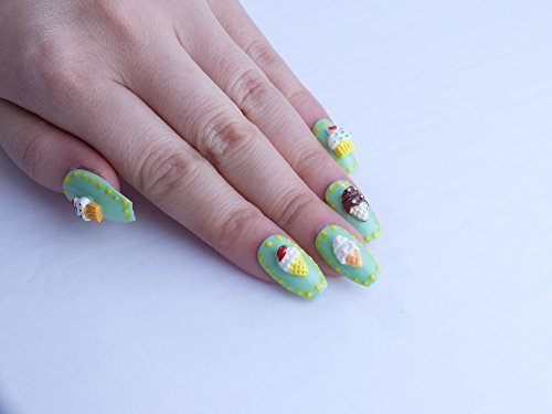 Retro Dessert Custom Press on Nails by Unicornails