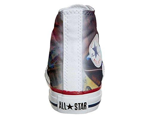 Converse All Star Hi Personnalisé et Imprimés Chaussures Coutume, Sneaker Unisex (Produit Italien Artisanal) Style de Guitare