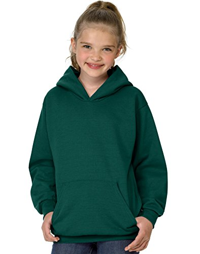 Hanes Youth ComfortBlend® EcoSmart® Hooded Pullover - Deep Forest - M