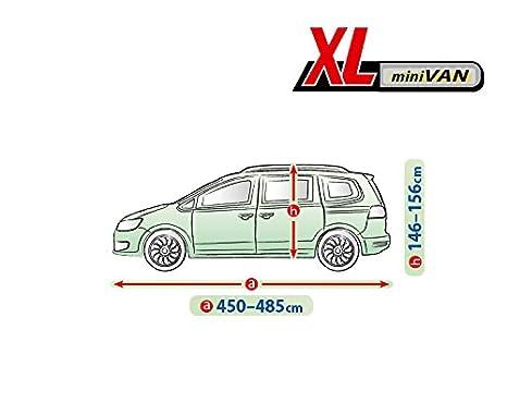 UV-best/ändig L500 Van wetterfest Kegel Universal Auto Abdeckung Vollgarage Autoplane Gr/ö/ße 490-520 cm