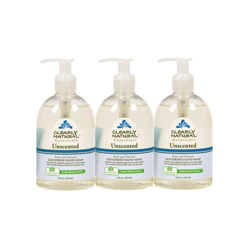 Clearly Natural Liquid Hand Soap, Pack of 3, 12-Ounces Each