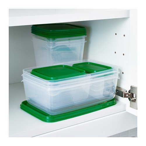 green kitchen storage pruta food container set of 17 green kitchen storage 1438
