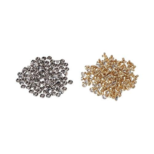 MOPOLIS 100x Fashion Rhinestone Rivets Studs Leather Craft DIY For Clothes Shoes Decor | Size - 6MM