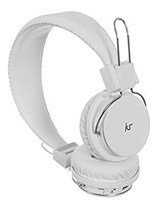KitSound KSMHDTBK Manhattan Bluetooth Over-Ear Headphones with Mic Compatible with Smartphones, Tablets and MP3 Devices
