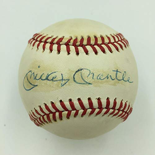 - Mickey Mantle Signed Autographed Official American League Baseball With JSA COA