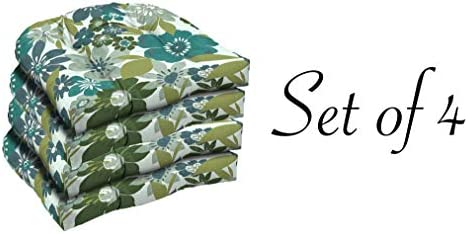 Comfort Classics Inc. Outdoor Multi Color Flower Pattern seat pad Set of 4 23x21x2 in Polyester