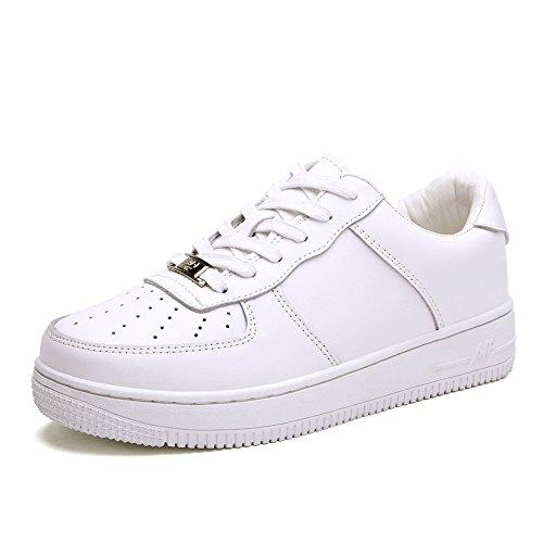 Zapatillas de damas/Casuales zapatos blancos/Zapatos del tablero/Versión coreana de los zapatos de fondo plano A